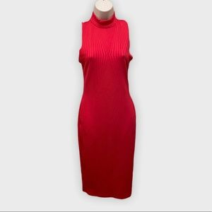 Socialite High Neck Bodycon Midi Dress